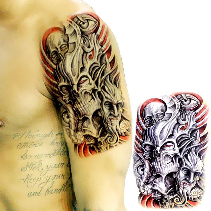 17 Best Ideas About Evil Skull Tattoo On Pinterest