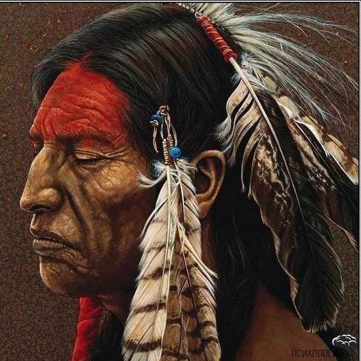 вождь индейского племени Ория
