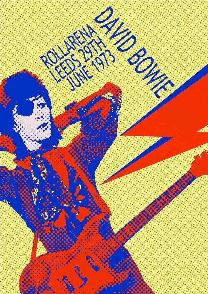 David Bowie poster concert - Rollarena Leeds 29th June 1973 More