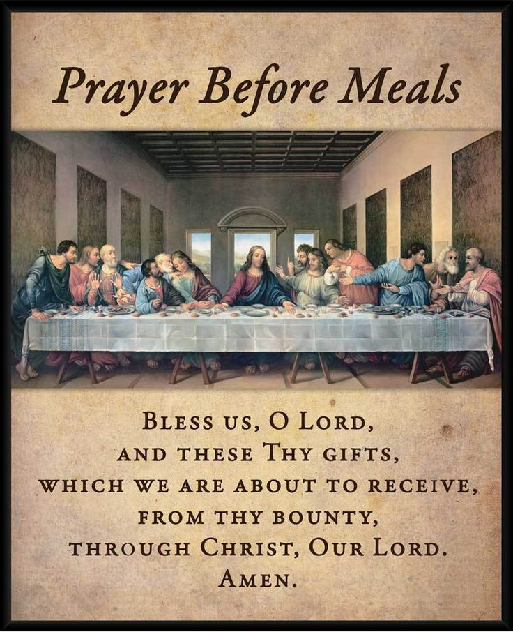 Prayer Before Meals with the Last Supper Wall Plaque - Catholic to the Max - Online Catholic Store