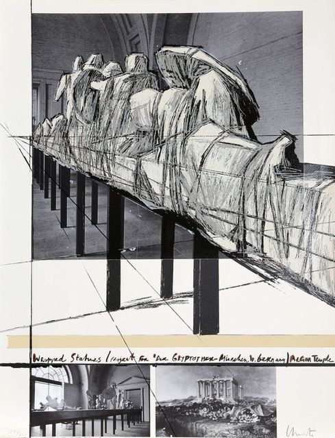 Christo and Jeanne-Claude   Wrapped statues (Project for Die Glyptothek-München, West Germany) Aegina temple (1988)   Artsy