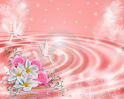 Fairy Fantasy Pink Floral Background Stock Image - Image: 10280701