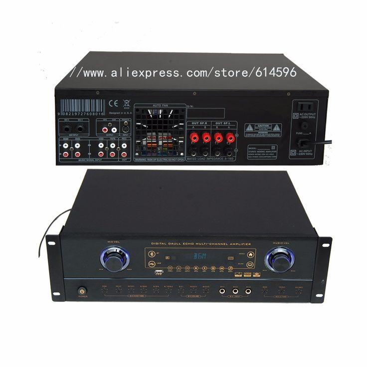 Blueteeth Recordable Professional Digital Karaoke Amplifier Mixer With MP3 Recorder /Player Power amplifier audio DJ amplifier