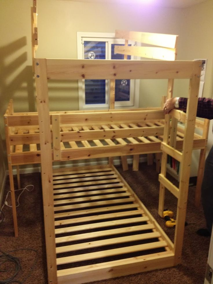 triple wooden bunk beds lowes paint colors interior check more at http