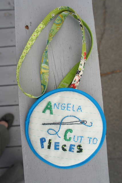 Quilted name tag Angela Cut to Pieces
