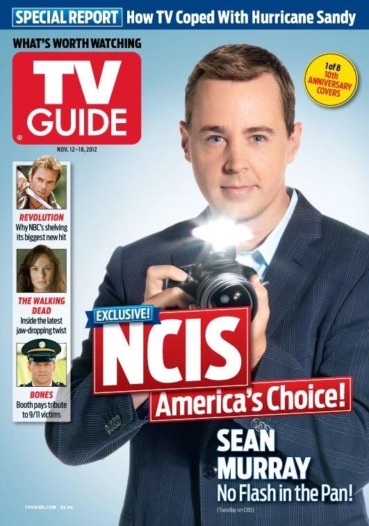 Sean na obálce TV Guide, 12. - 18. 11. 2012 (1 z 8 obálek 10-ti letého výročí)