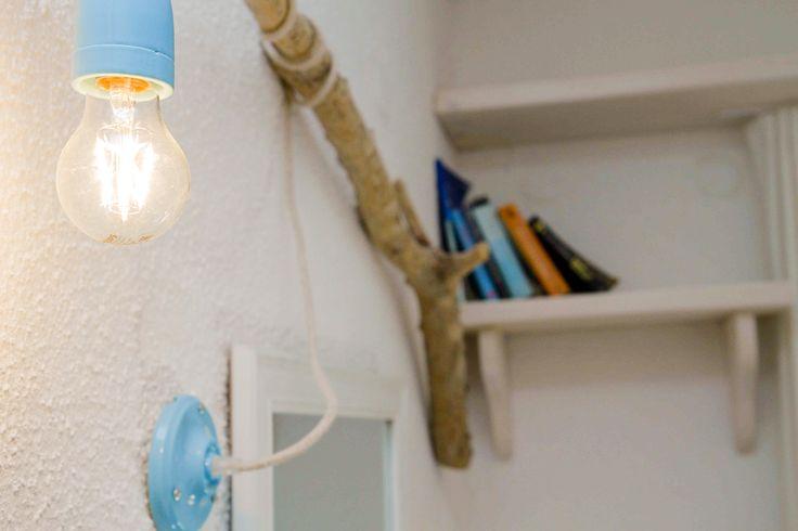 Dreamhouse in Chalkidiki, Greece | Interior-Decoration Detail | Ask for availability in summer 2017! #dreamhouse #cottage #beachhouse #housetorent #siviri #chalkidiki #aegean #architecture #greece #summer #driftwood #books #bookselves