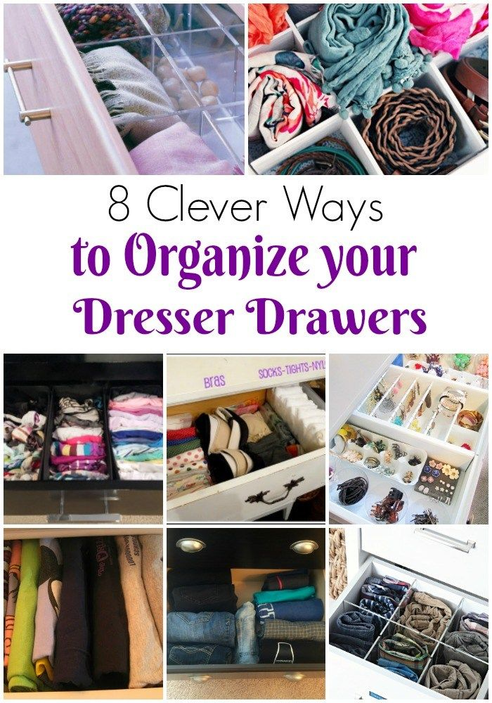 Some super functional ways for how to organize dresser drawers | how to organize your dresser | how to organize dresser | how to organize drawers | how to organize clothes | dresser organization ideas