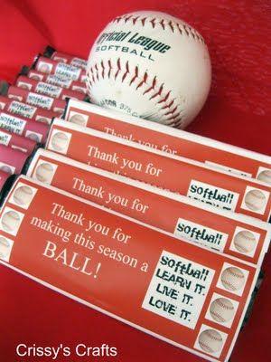 Softball Favors