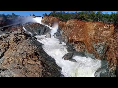 Oroville Dam UPDATE 3/28/2017 5:57 PM Weather Frequeny Ring Drone Footage