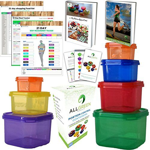 Amazon Lightning Deal 70% claimed: 1 Day Sale -7 Piece Portion Control Containers Colored Set Meal Prep Kit for ... #LavaHot http://www.lavahotdeals.com/us/cheap/amazon-lightning-deal-70-claimed-1-day-sale/133650