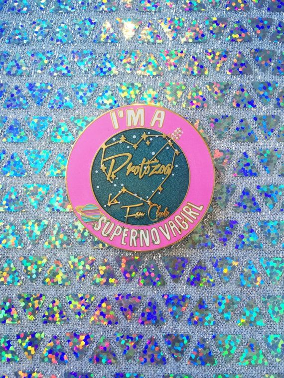 Zenon Protozoa Fan Club Badge by TheLanternGirlShop on Etsy