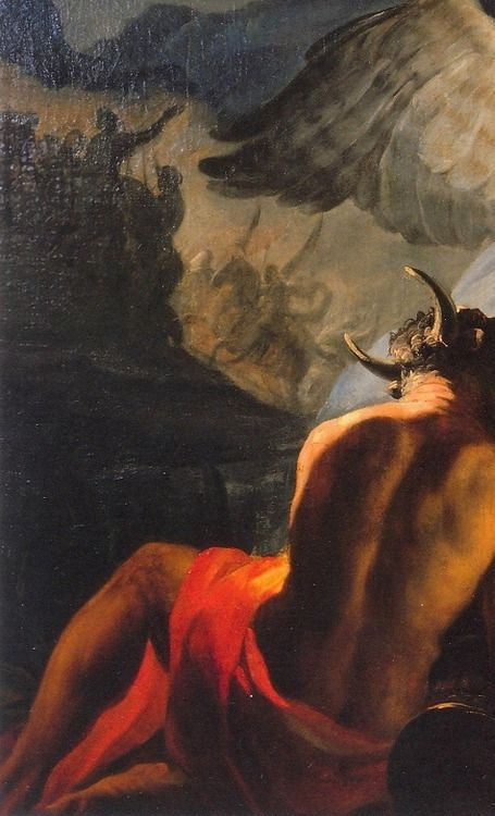 Detail from Francisco de Goya's Hannibal the Conqueror, viewing Italy from the Alps for the first time. (1770-1771).