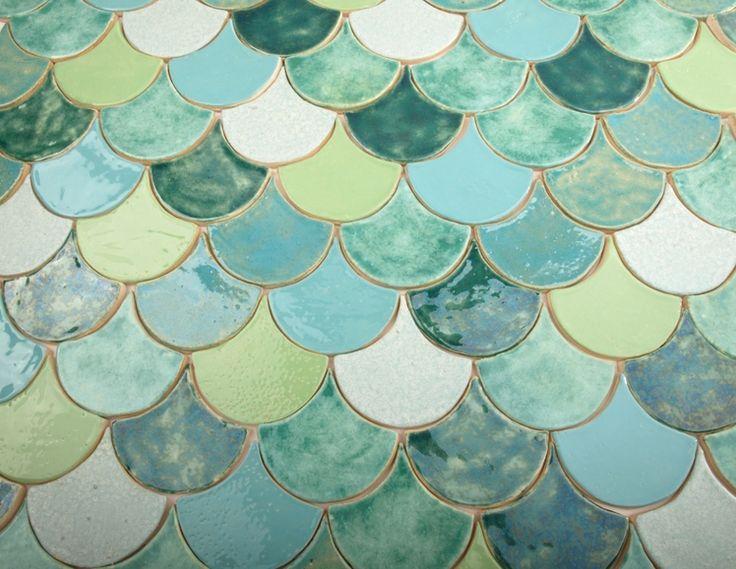kafle rybie łuski  w dekornia na DaWanda.com