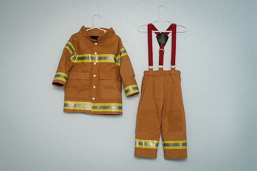 Kid's Fireman Costume from Peek A Boo's Puddle Jumper — Pattern Revolution