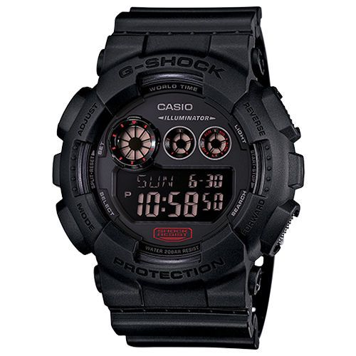 Casio G-Shock GD120MB-1 Big Case Multi Window Matte Black Digital Mens Watch