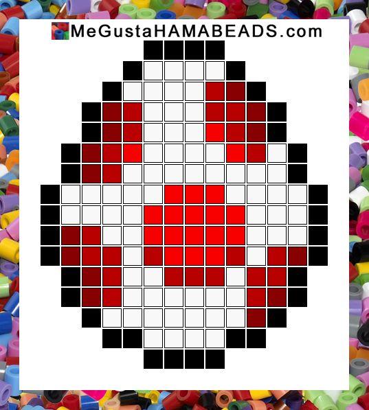 hama beads mario red egg