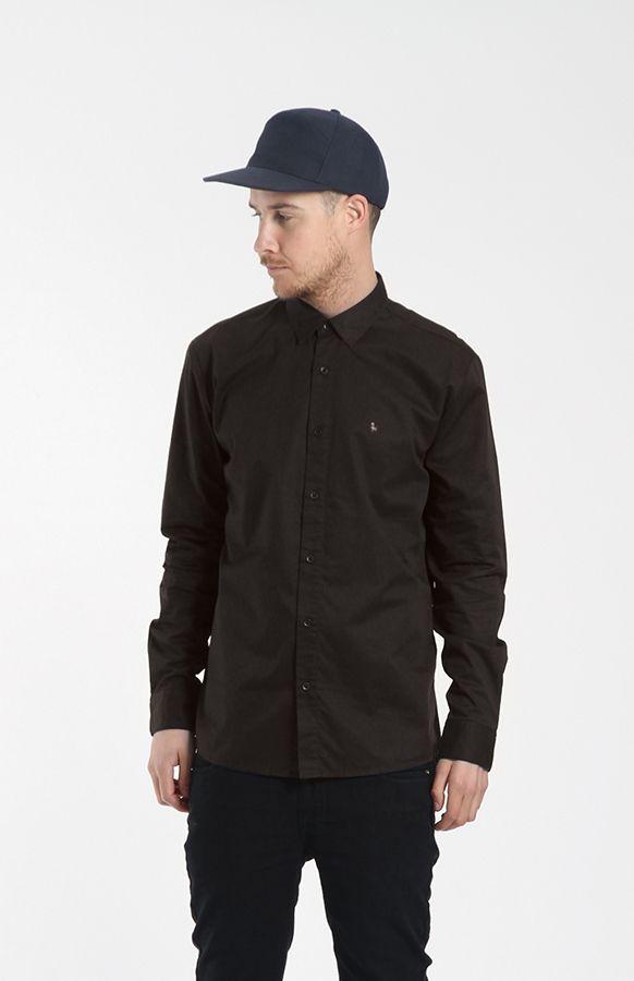 Huffer Chair Bro Dress Shirt in Black on Black $139nzd free delivery world-wide via online store: http://www.needlesandthreads.co.nz/estore/category/huffer.aspx
