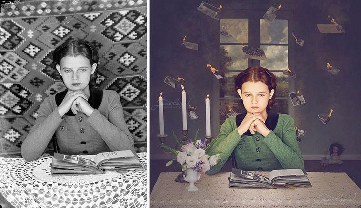 Jane+Long+přetváří+staré+fotografie+na+snové+ilustrace