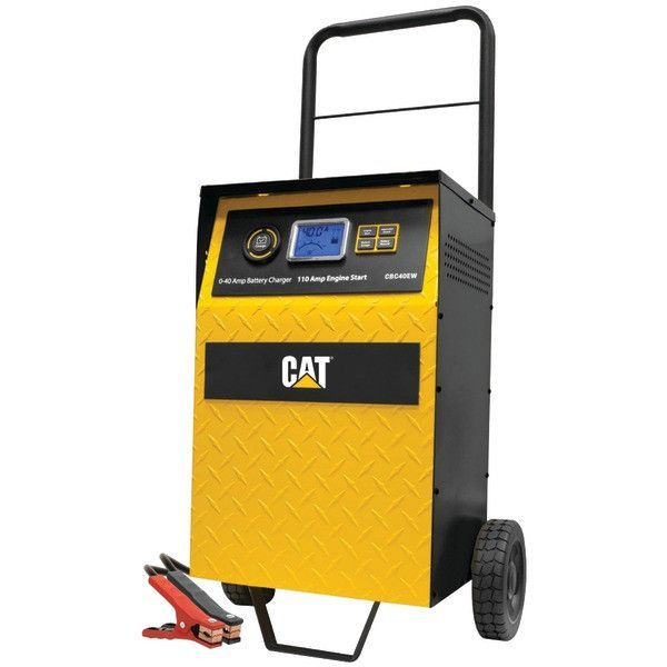Cat CBC40E 40-Amp Rolling High-Frequency Charger with 110-Amp Engine Start, Alternator Check & Battery Reconditioning