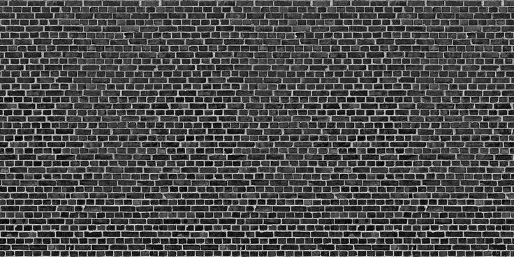 One of our many realistic brick wall murals. The black Brick Wall Mural wallpaper pictures a sturdy black brick wall.