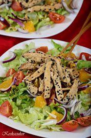 Koskacukor: Szezámmagos csirkemell saláta