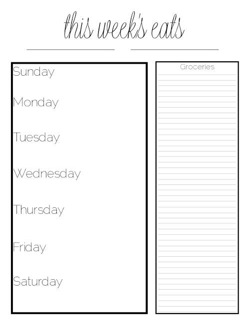 1000 ideas about Meal Planning Templates – Restaurant Menu Planning Template