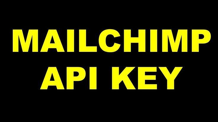 Mailchimp API KEY | How to Find Mailchimp API Key