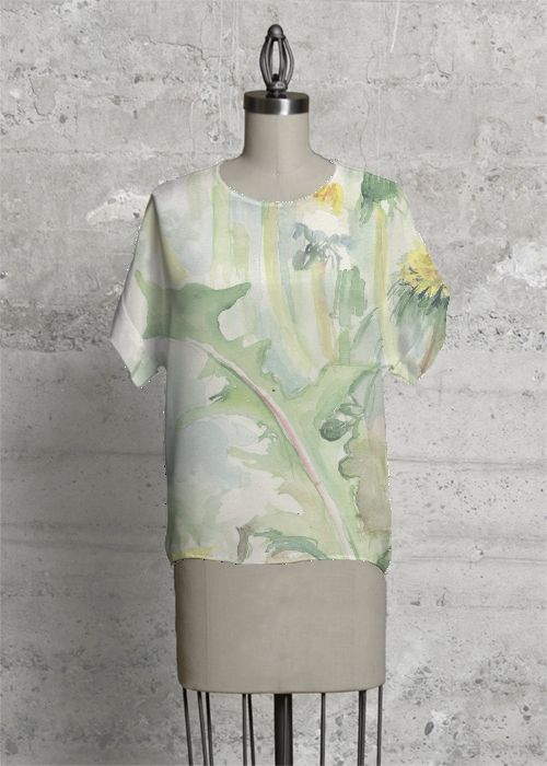 Floral Modern Tee #top #collection #autumn #spring #trend #2017 #2018 #floral #wildlife #watercolor