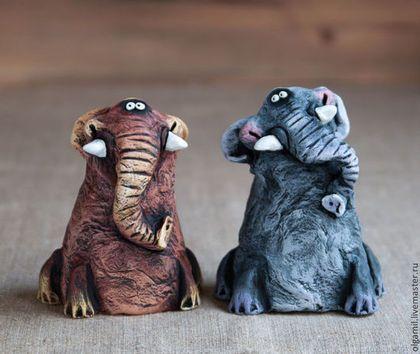 Слоны Тоша и Гоша - серый,слон,слоник,смешной подарок,прикольная игрушка