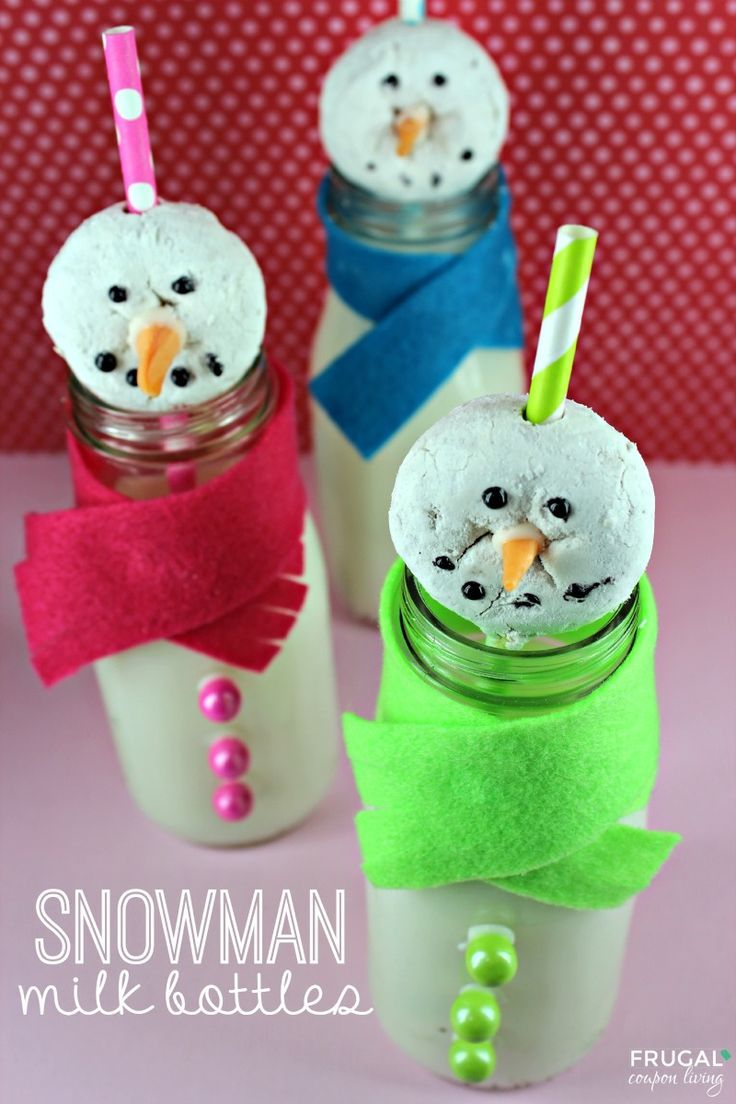 Frugal Coupon Living's Snowman Milk Bottle - Holiday Kids Food Craft. Great for ...
