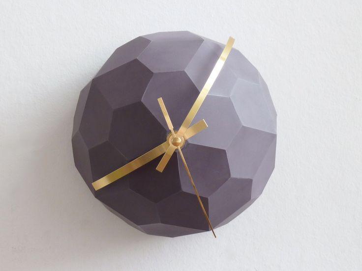 Image of PolyGlobe Wall Clock - Mauve
