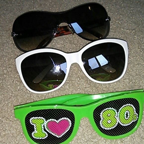 80's Sunglass Bundle - 4 pairs!  Trendy, fun, and silly! What a deal! I'd be happy to throw these in with another purchase of two or more things! Accessories