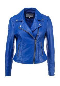 Куртка кожаная LOST INK., цвет: синий. Артикул: LO019EWDCV88