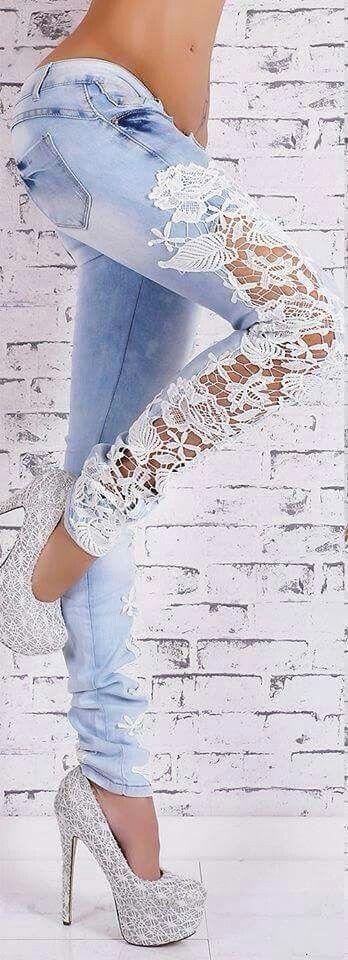 Jeans customizado                                                                                                                                                      More
