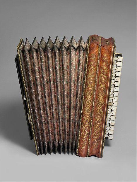 G. Kaneguissert (French). Accordian, ca. 1860. Wood (palisander, softwood)…