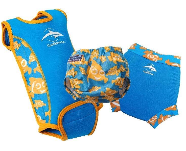 Colour co-ordinate with Konfidence's award winning Babywarma baby pool wetsuit - Clownfish
