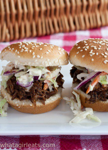 Slow Cooker Pulled Pork Sliders-Spicychili-rubbed pork with homemade BBQ sauce made in the slow cooker. Simply delicious! -Eat Your Beer! 7 Fantastic National IPA Beer Day Recipes