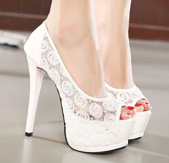 Mujeres-Sexy-de-encaje-blanco-marfil-novia-zapatos-de-boda-plataforma-tacones-altos-bombas-para-mujeres.jpg (571×551)