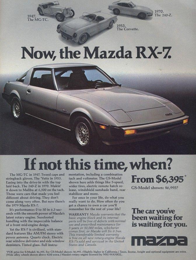Mazda RX-7 Old ad