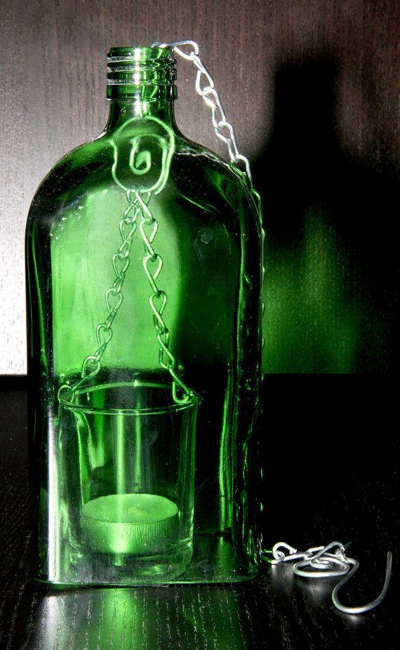 Jagermeister Glass Bottle Lantern