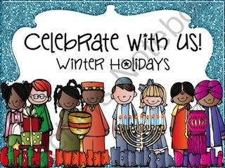Winter Holidays (Hanukkah, Diwali, Kwanzaa, and Christmas) from Kindergarten Lifestyle on TeachersNotebook.com (173 pages)  - holiday comparison unit