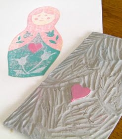Chantal Vincent Art: Tutorial: How to make a Russian Doll Reduction Linocut
