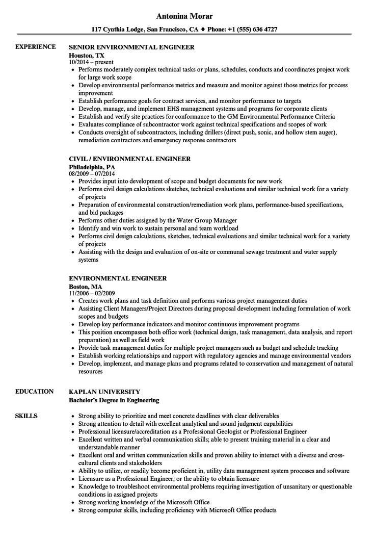 30 Civil Engineering Resume Examples in 2020 Human