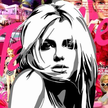 "Saatchi Art Artist Annejole Jacobs - de Jongh; Collage, ""Britney Spears - limited edition 2/25"" #art"
