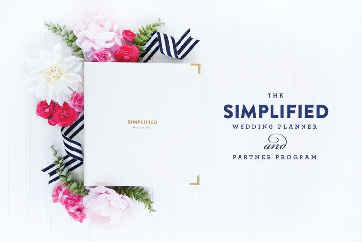 The Simplified Wedding Planner™ by Emily Ley $54. Perfect for brides. Wedding pros can join the Partner Program to personalize, brand and gift these, at a discount, to their beautiful brides. (Image by Shay Cochrane - www.ShayCochrane.com)
