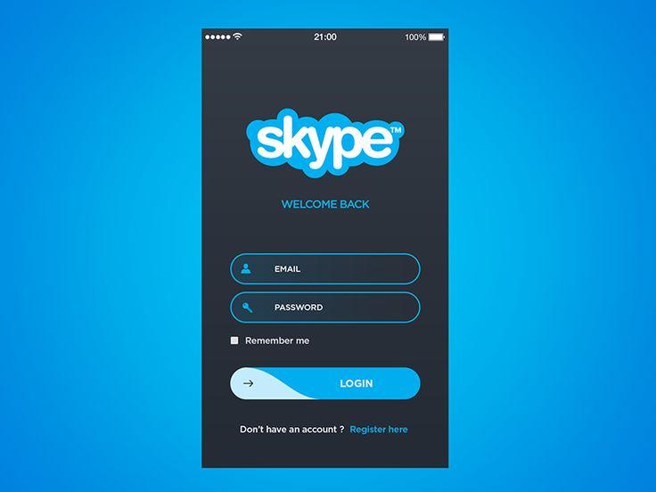 Skype app concept by Hervé // Crelcreation