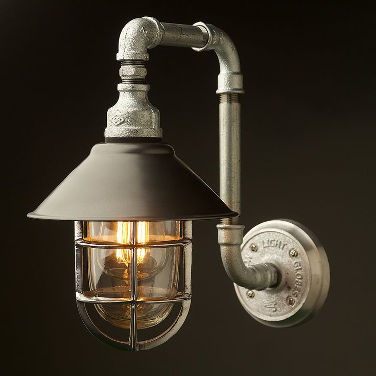 Outdoor-Plumbing-pipe-wall-shade-lamp