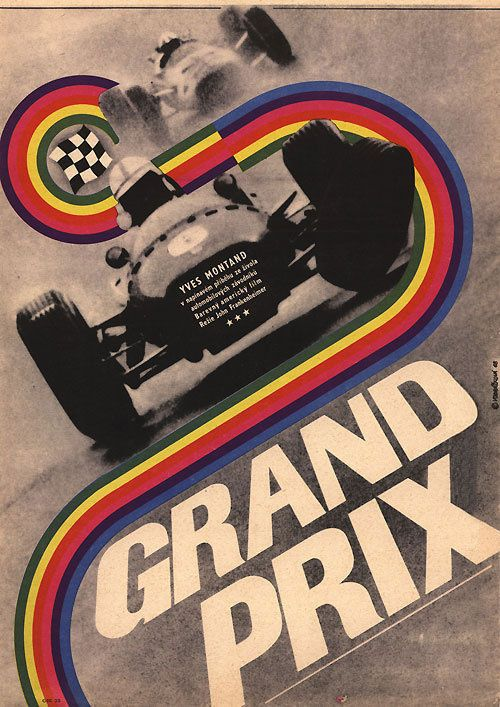 "Movie Poster of the Week: ""Grand Prix"" and the Posters of Eva Galová-Vodrázková on Notebook 