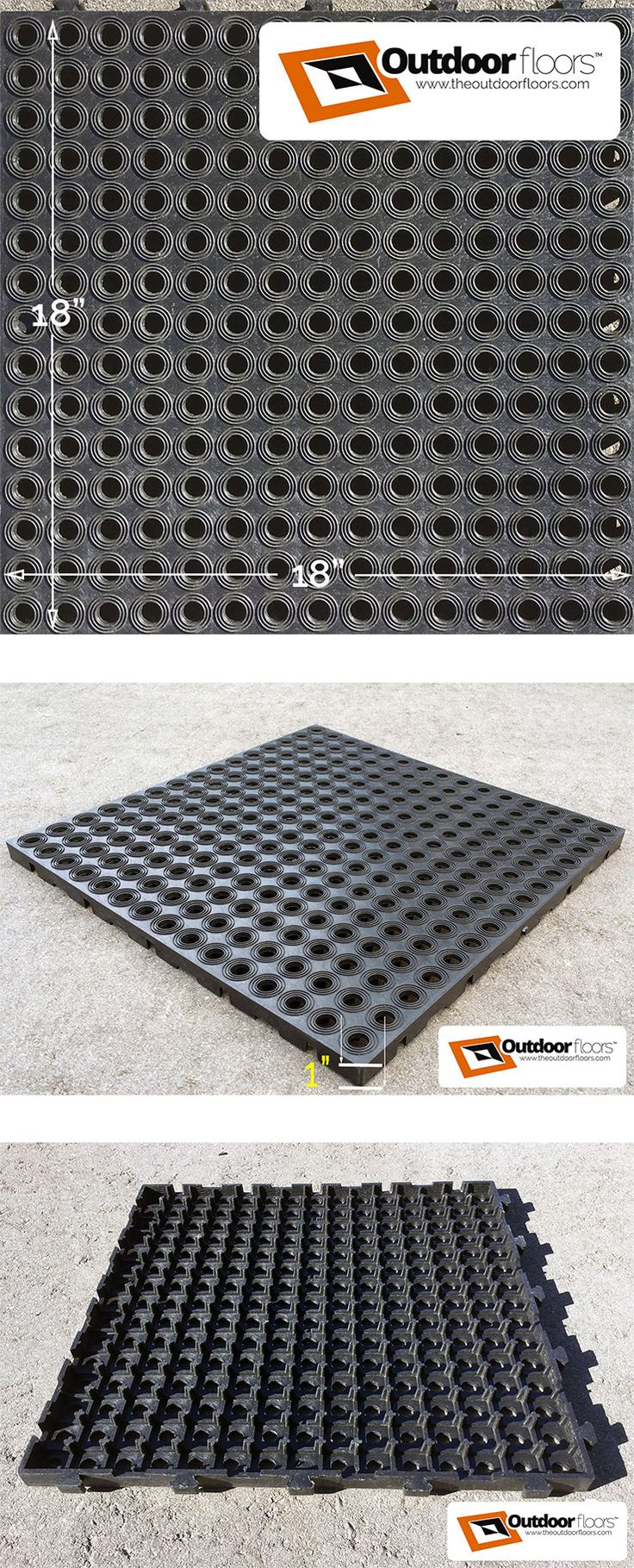 ExtremeFloor garage flooring tile. Interlocking, heavy-duty 18x18x1 inch tiles keep garages clean and dry. Garage floor gifts and ideas.
